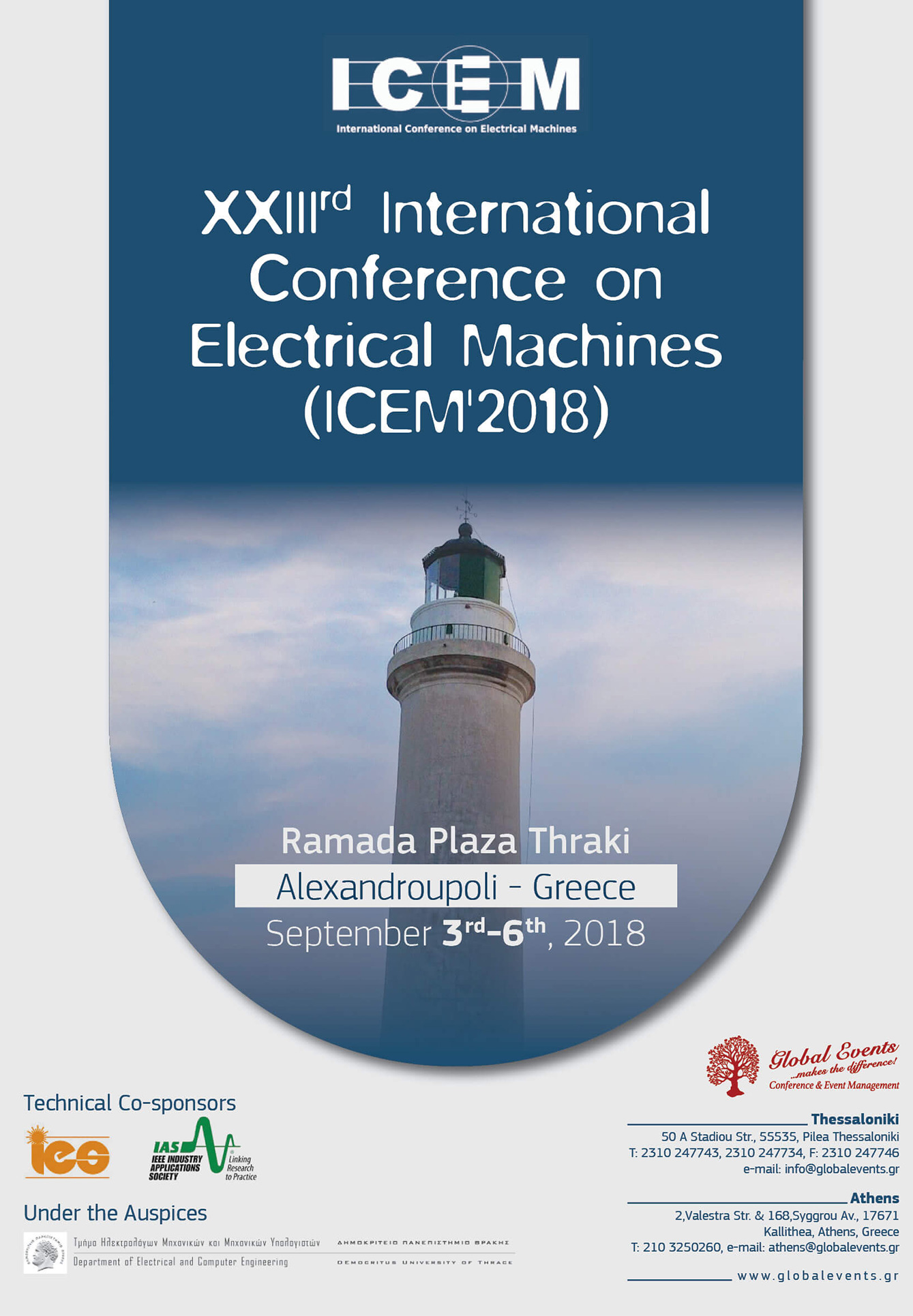 XXIIIrd International Conference on Electrical Machines